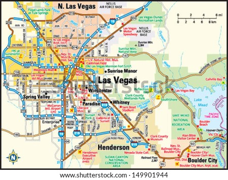 Las Vegas Nevada Area Map Stock Vector HD Royalty Free 149901944