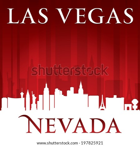 Las Vegas Nevada city skyline silhouette. Vector illustration - stock vector