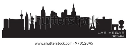 Las Vegas, Nevada skyline. Detailed vector silhouette - stock vector