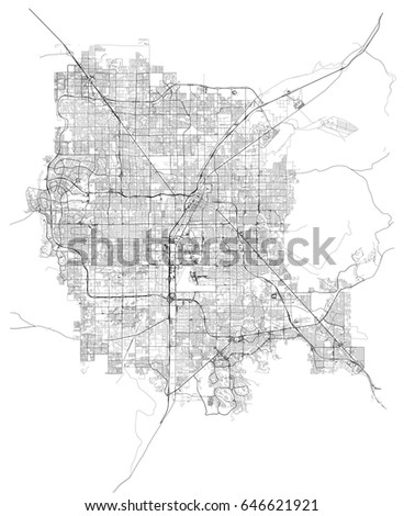 Las Vegas Nevada Usa Streets Vector Stock Vector 646621921