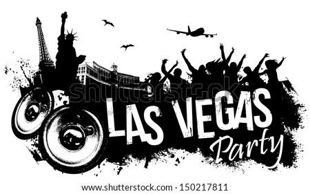 Las Vegas Party - stock vector