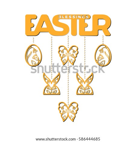 Laser Cut Template Easter Greeting Cards Vector 585969596 – Easter Invitation Cards