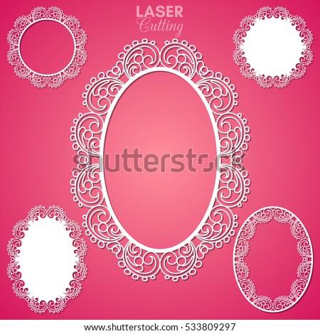 Laser Cut Vector Frame Collection Set Stock Vector 533809297 ...