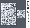 Laser cut vector panel and the seamless pattern for decorative panel. A picture suitable for printing, engraving, laser cutting paper, wood, metal, stencil manufacturing. - stock vector