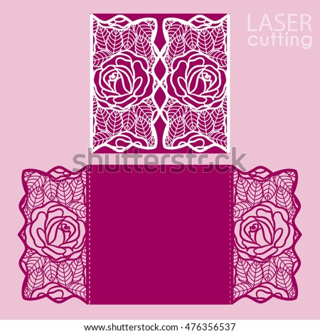 Laser cut wedding invitation card template stock vector hd royalty laser cut wedding invitation card template stock vector hd royalty free 476356537 shutterstock stopboris Gallery