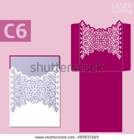 Laser Cut Wedding Invitation Card Template Vector 388102795 – Cards for Invitation
