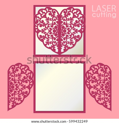 Laser Cut Vector Card Temlate Rose Stock Vector 481959019 ...
