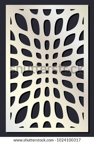Laser Cutting Template Woodcut Vector Trellis Panel Plywood Cut Eastern Design Abstract