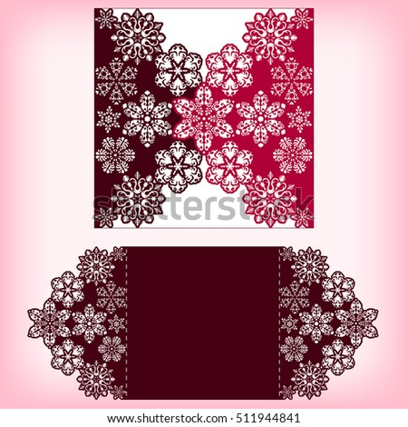 Laser cutting three layers template snowflakes stock vector laser cutting three layers template with snowflakes ornament for christmas greeting cards invitations stopboris Choice Image