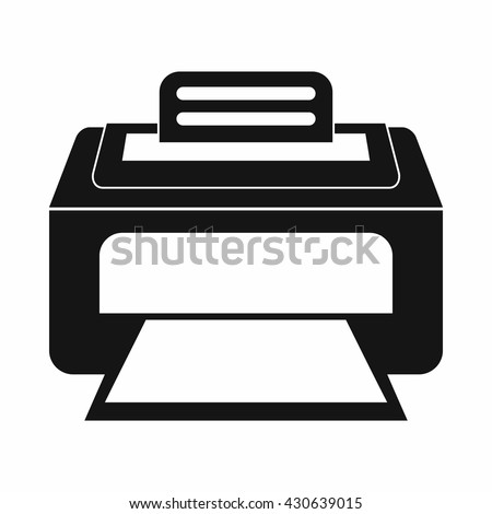 Laser printer icon - stock vector