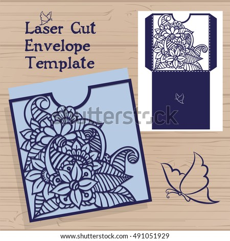 Lasercut Vector Wedding Invitation Template Wedding