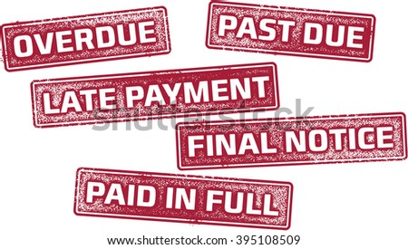 Late Payment Loan Stamps - stock vector