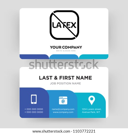 Latex free business card design template stock vector royalty free latex free business card design template visiting for your company modern creative and colourmoves