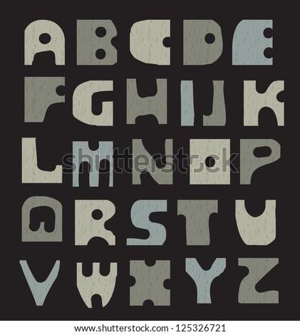 Latin Alphabet. Seamless saved - stock vector