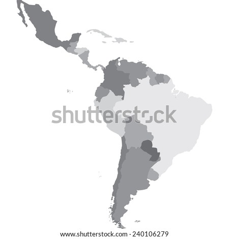 latin america - stock vector