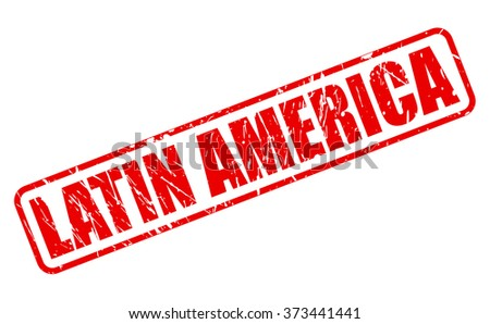 LATIN AMERICA red stamp text on white - stock vector