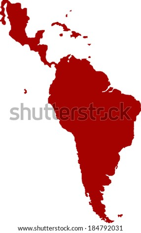 Latin America Vector Map - stock vector