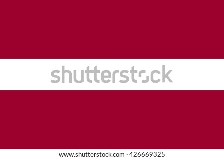 Latvia flag official right proportions vector illustration - stock vector