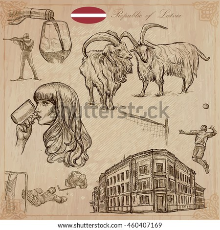 Latvia Republic Of Vector Pictures Life And Travel Collection