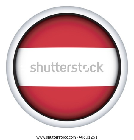Latvia sphere flag button, isolated vector on white