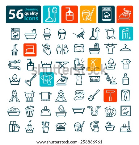 Laundry And Washing Icons for web and mobile. - stock vector