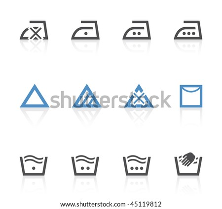 Laundry care symbols - stock vector