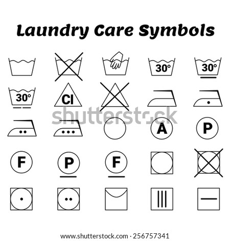 care instruction symbols for clothing content label