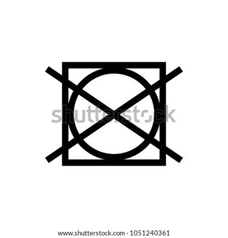 Laundry Symbol Icon Do Not Tumble Stock Vector 1051240361 Shutterstock