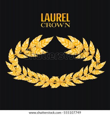 laurel leaf crown template - olive crown stock images royalty free images vectors