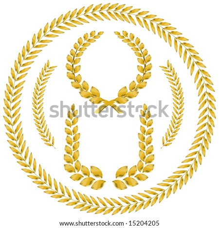 laurel wreath - stock vector