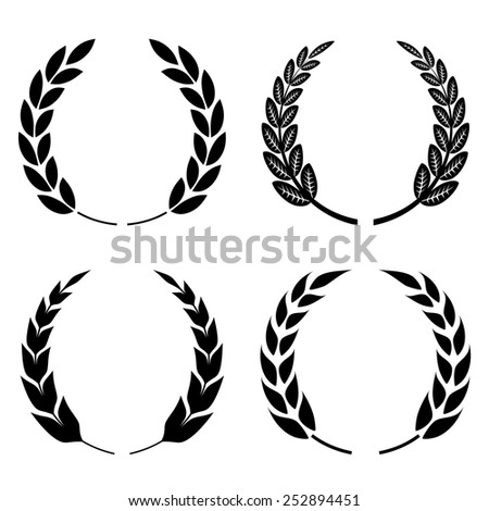 Laurel wreath icon - stock vector