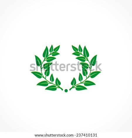 Laurel Wreath Vector icon - stock vector