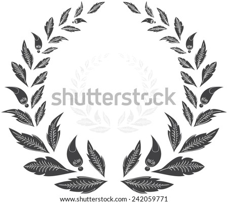 laurel wreath. vector illustration