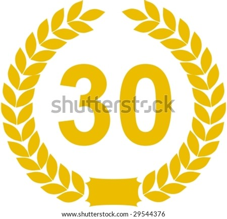 laurel wreath 30 years