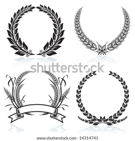 Laurel Wreaths pattern design, vector illustration file. - stock vector