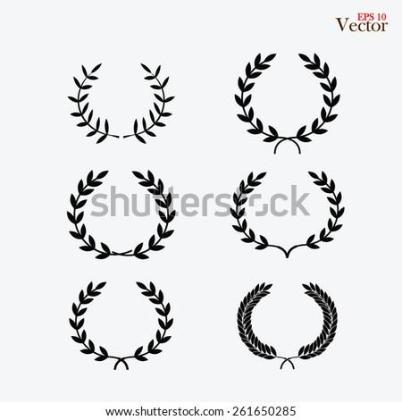 Laurel Wreaths Vector Collection - stock vector