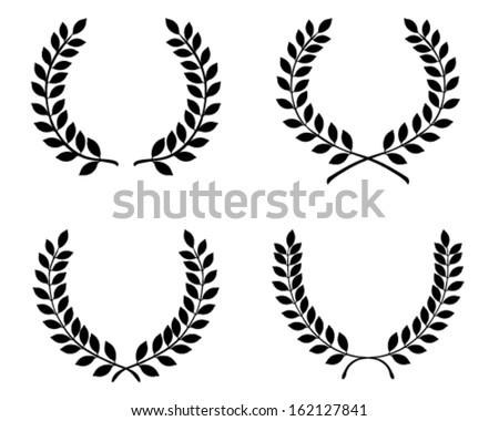 Laurel wreaths, vector isolated - stock vector