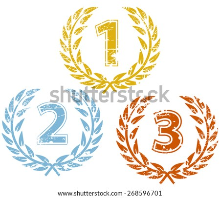 Laurels for winners - stock vector