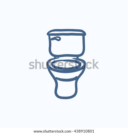 Lavatory bowl vector sketch icon isolated on background. Hand drawn Lavatory bowl icon. Lavatory bowl sketch icon for infographic, website or app. - stock vector
