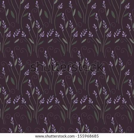 lavender bunch seamless background - stock vector