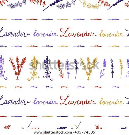 Lavender Seamless pattern  - stock vector