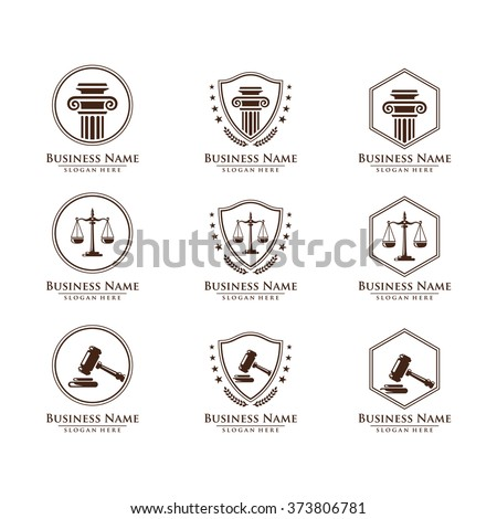 Law and attorney logo, elegant law and attorney firm vector logo design,  vol 9