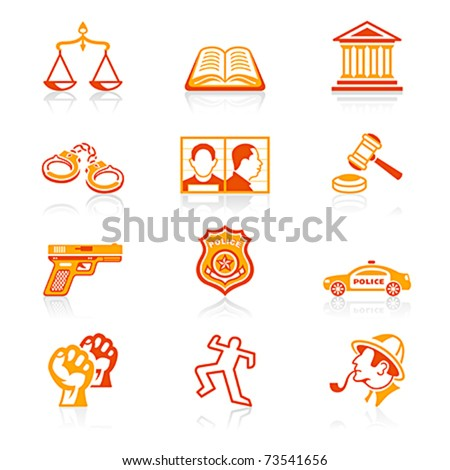 Law and order icons | JUICY series - stock vector