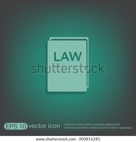 law book icon. set of laws. symbol of justice