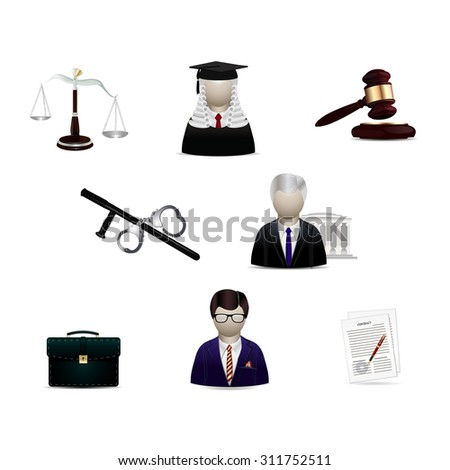 Law icons,legal,justice infografics.Vector court icons set. icon legal set - stock vector