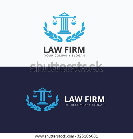 Law office logo collection. The judge, Law firm logo template, lawyer set of vintage labels. full vector logo and easy to edit able.