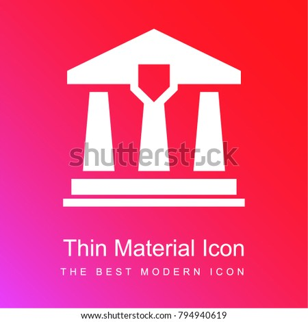 Law office red and pink gradient material white icon minimal design