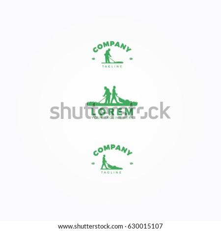 lawn mower logo stock vector royalty free 630015107 shutterstock rh shutterstock com Cub Cadet Logo lawn mower logo clip art