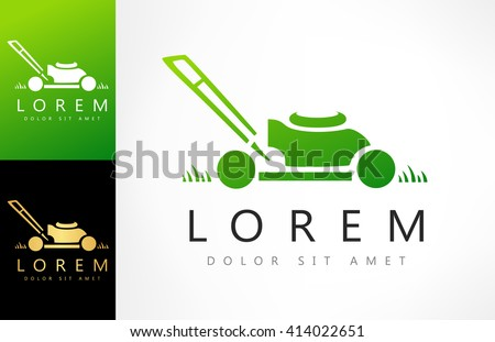 lawn mower logo. lawn mower logo vector