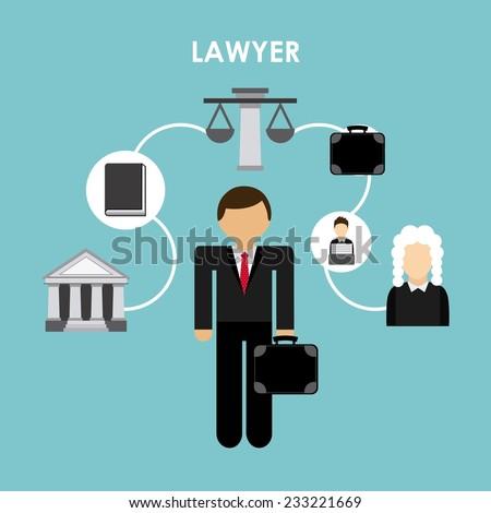 lawyer design , vector illustration - stock vector